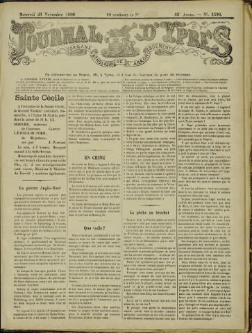 Journal d'Ypres (1874 - 1913) 1900-11-21