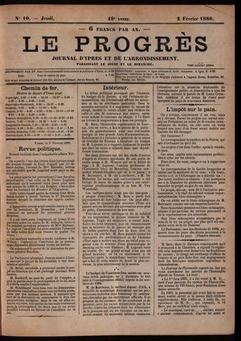 Le Progrès (1841-1914) 1888-02-02