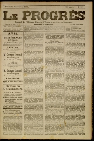 Le Progrès (1841-1914) 1905-11-05