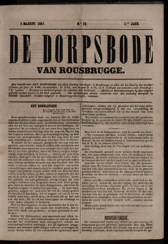 De Dorpsbode van Rousbrugge (1856-1857 en 1860-1862) 1857-03-03