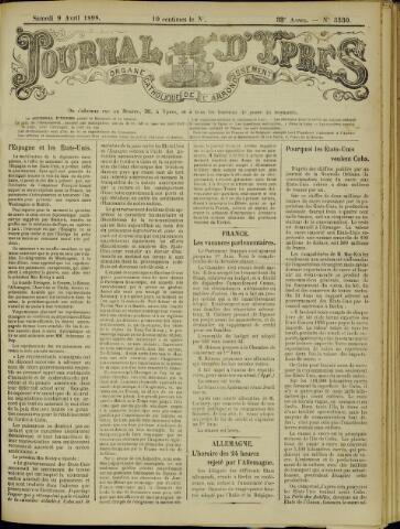 Journal d'Ypres (1874 - 1913) 1898-04-09