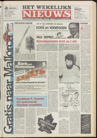 Het Wekelijks Nieuws (1946-1990) 1985-09-27