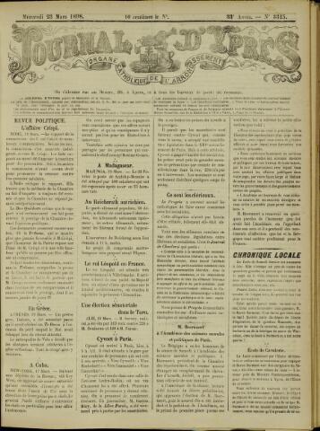 Journal d'Ypres (1874 - 1913) 1898-03-23