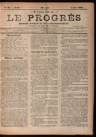 Le Progrès (1841-1914) 1888-06-07