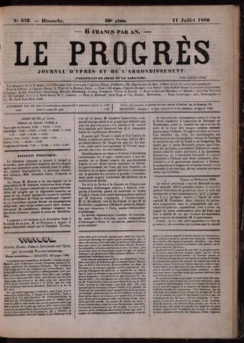 Le Progrès (1841-1914) 1880-07-11