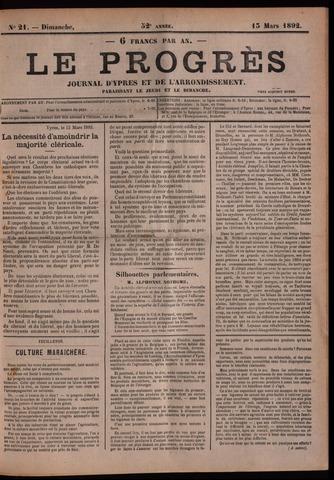 Le Progrès (1841-1914) 1892-03-13