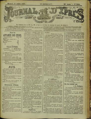 Journal d'Ypres (1874 - 1913) 1897-07-21