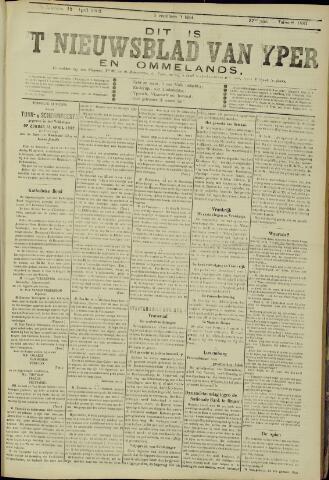 Nieuwsblad van Yperen en van het Arrondissement (1872 - 1912) 1902-04-12