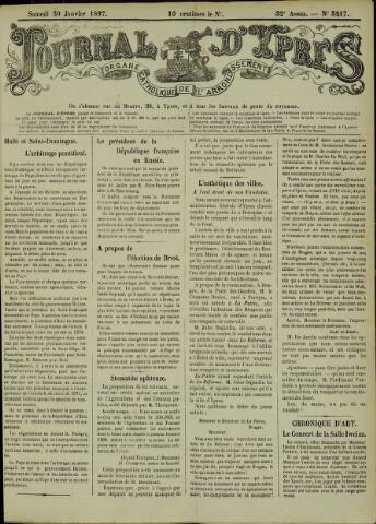 Journal d'Ypres (1874 - 1913) 1897-01-30