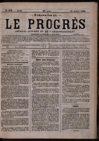 Le Progrès (1841-1914) 1880-07-22