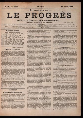 Le Progrès (1841-1914) 1888-04-12