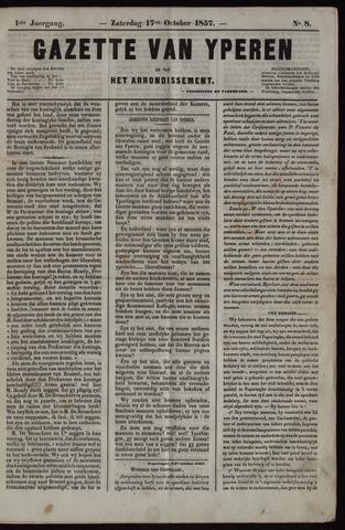 Gazette van Yperen (1857-1862) 1857-10-17