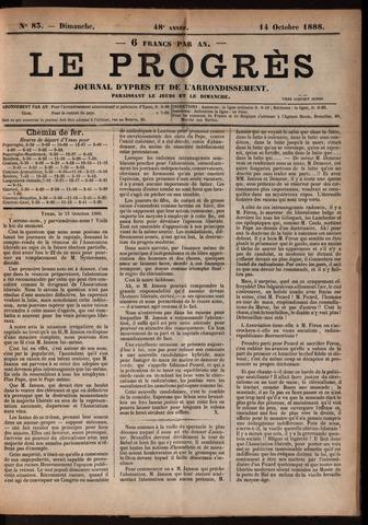 Le Progrès (1841-1914) 1888-10-14