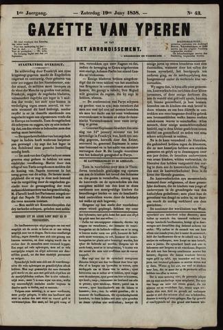 Gazette van Yperen (1857-1862) 1858-06-19