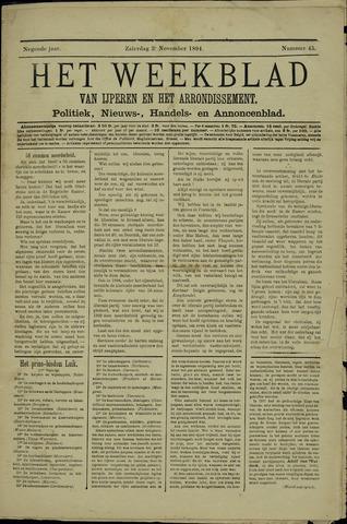 Het weekblad van Ijperen (1886 - 1906) 1894-11-03
