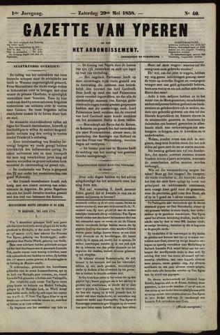 Gazette van Yperen (1857-1862) 1858-05-29