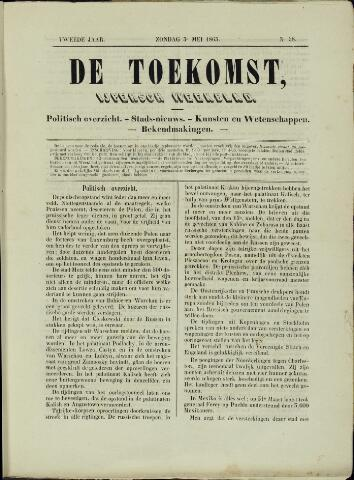 De Toekomst (1862 - 1894) 1863-05-03