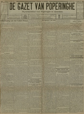 De Gazet van Poperinghe  (1921-1940) 1931-04-12