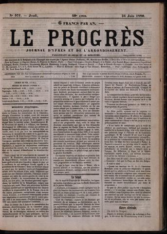 Le Progrès (1841-1914) 1880-06-24