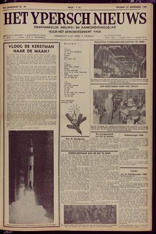 Het Ypersch nieuws (1929-1971) 1967-12-22
