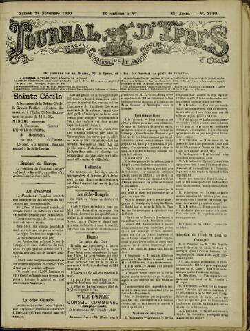 Journal d'Ypres (1874 - 1913) 1900-11-24