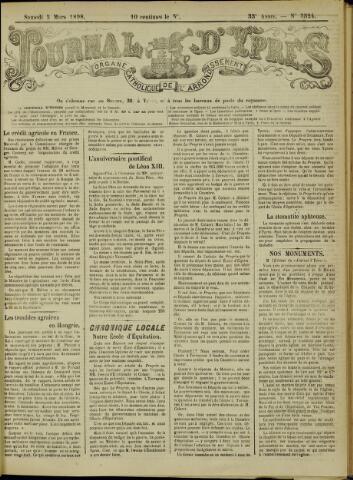 Journal d'Ypres (1874 - 1913) 1898-03-05