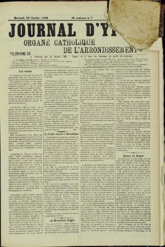 Journal d'Ypres (1874 - 1913) 1906-10-10