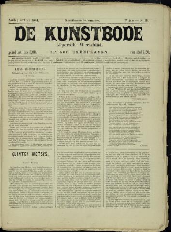 De Kunstbode (1880 - 1883) 1881-06-05