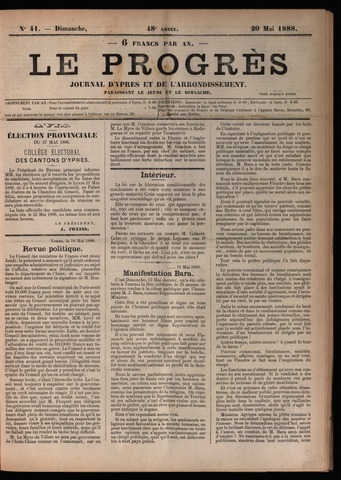 Le Progrès (1841-1914) 1888-05-20