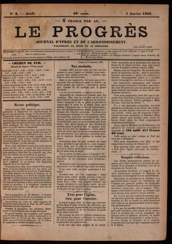 Le Progrès (1841-1914) 1888-01-05