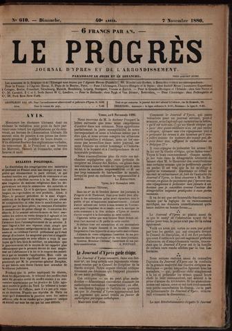 Le Progrès (1841-1914) 1880-11-07