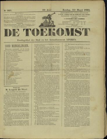 De Toekomst (1862 - 1894) 1892-08-21