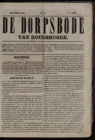 De Dorpsbode van Rousbrugge (1856-1857 en 1860-1862) 1857-10-20