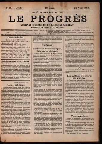 Le Progrès (1841-1914) 1888-04-26