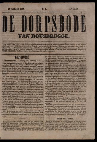 De Dorpsbode van Rousbrugge (1856-1857 en 1860-1862) 1857-01-27