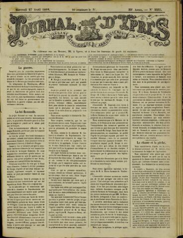 Journal d'Ypres (1874 - 1913) 1898-04-27