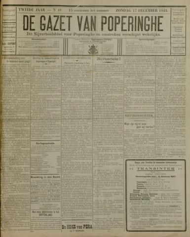 De Gazet van Poperinghe  (1921-1940) 1922-12-17
