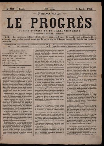 Le Progrès (1841-1914) 1880-01-08