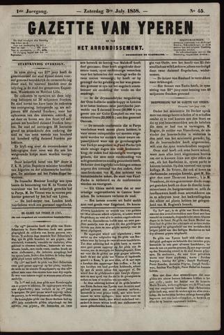 Gazette van Yperen (1857-1862) 1858-07-03