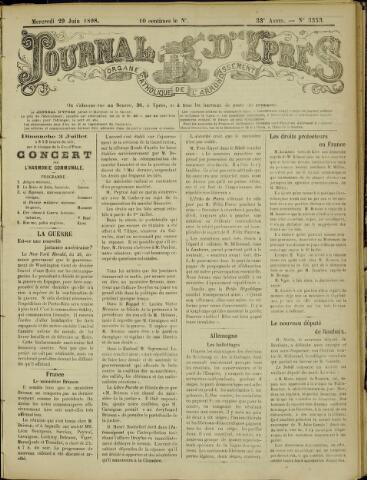Journal d'Ypres (1874 - 1913) 1898-06-29