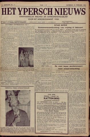 Het Ypersch nieuws (1929-1971) 1961-02-25