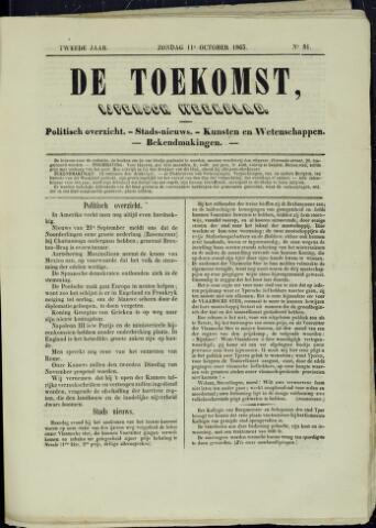 De Toekomst (1862 - 1894) 1863-10-11