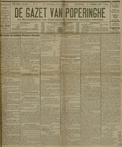 De Gazet van Poperinghe  (1921-1940) 1930-02-02
