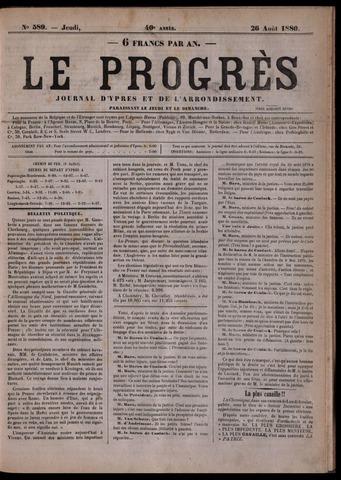Le Progrès (1841-1914) 1880-08-26