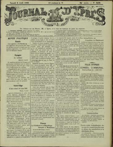 Journal d'Ypres (1874 - 1913) 1899-04-08