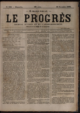 Le Progrès (1841-1914) 1879-11-23