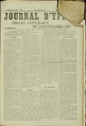 Journal d'Ypres (1874 - 1913) 1906-08-11