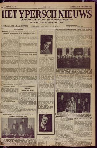 Het Ypersch nieuws (1929-1971) 1961-11-25