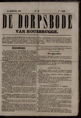 De Dorpsbode van Rousbrugge (1856-1857 en 1860-1862) 1857-08-18