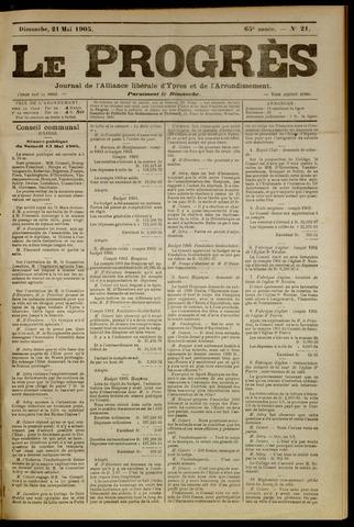 Le Progrès (1841-1914) 1905-05-21